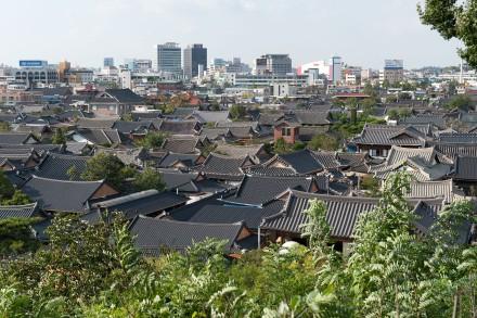 Vue sur les toits de Jeonju