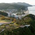 Vue sur Jeongdongjin depuis le Sun Cruise Hotel