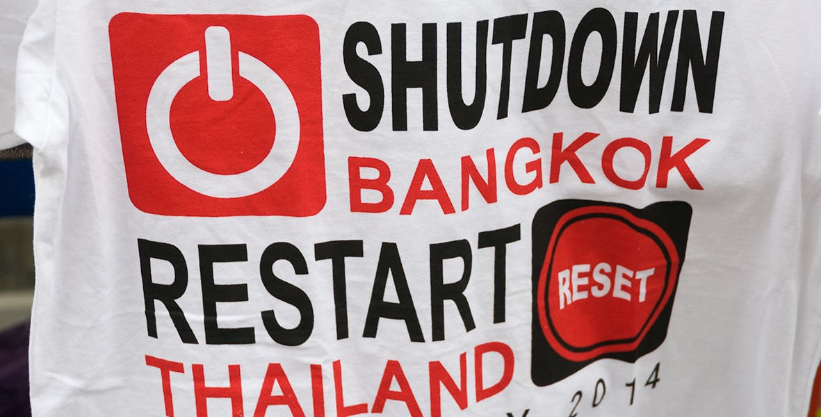 Bangkok: shutdown en janviers 2014